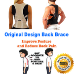 Magnetic Posture Corrective Therapy Back Brace For Men & Women [2019 Version] - Black / M - Awesales