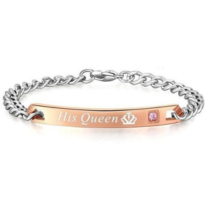 "Couple Bracelet ""Her King + His Queen"" - His Qeen - Awesales"