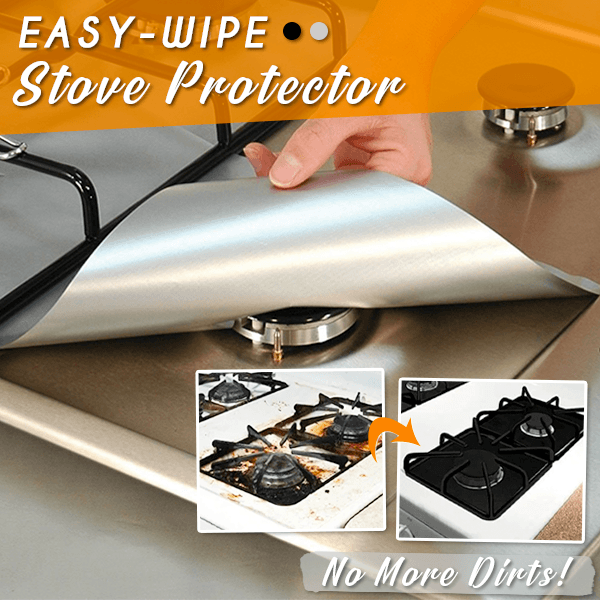Easy-Wipe Stove Protector - Silver / Set of 4 - Awesales