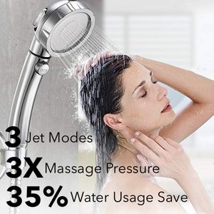 The Misugi - 3 In 1 High Pressure Showerhead (US Standard Hose Size) - Silver - Awesales