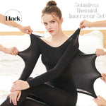 37THIN™ - Seamless Thermal Innerwear Set (Top + Bottom) - Black - Awesales