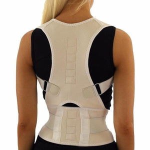 Magnetic Posture Corrective Therapy Back Brace For Men & Women [2019 Version] - Beige / L - Awesales