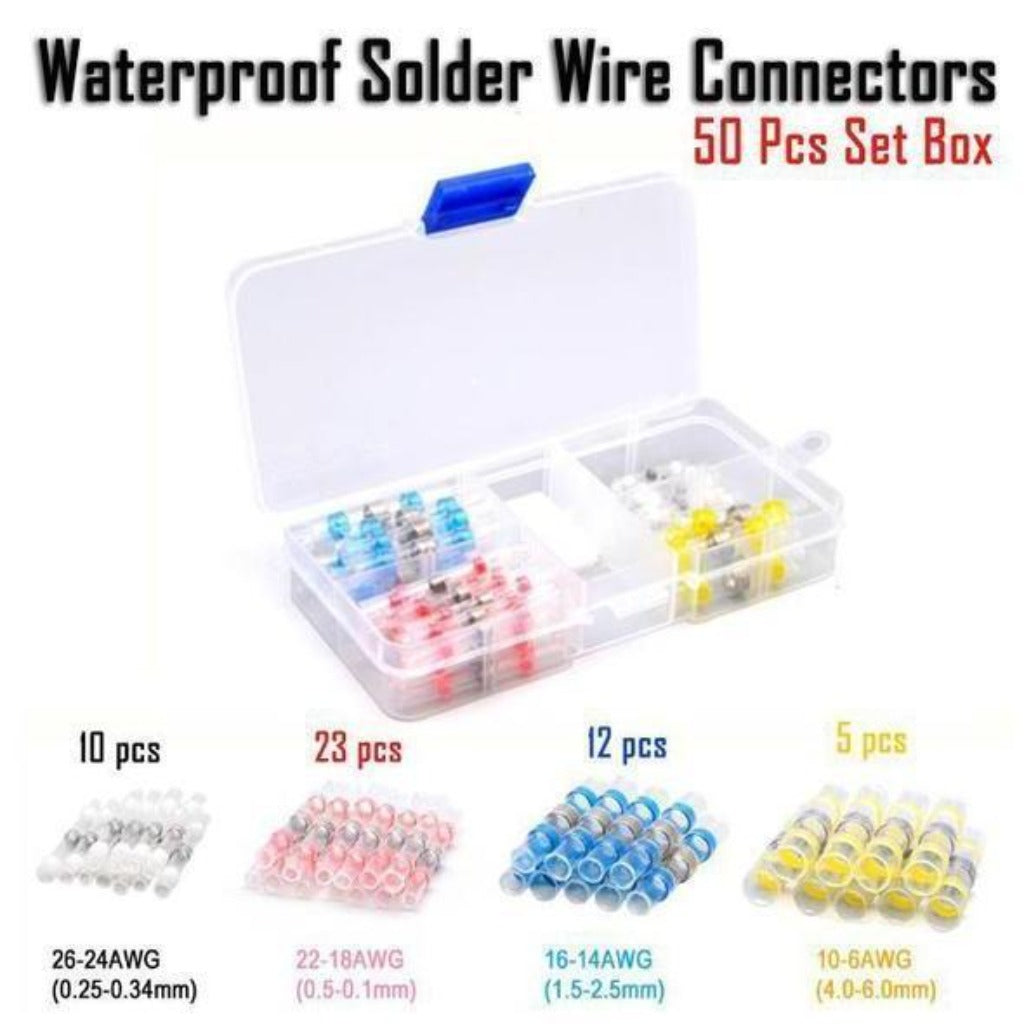 NEC™ - Waterproof Solder Wire Connectors - 50Pcs - Awesales