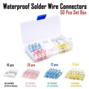 NEC™ - Waterproof Solder Wire Connectors (2020 Upgraded) - 50Pcs - Awesales