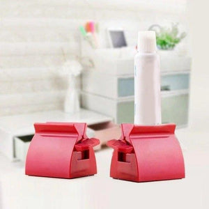 Rolling Tube Toothpaste Squeezer - 2 PCS ( RED ) ( 40% OFF ) - Awesales