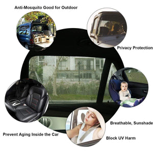 UVPro™ - Premium Adjustable Car's Rear Window Sunshade (2 pcs) - - Awesales