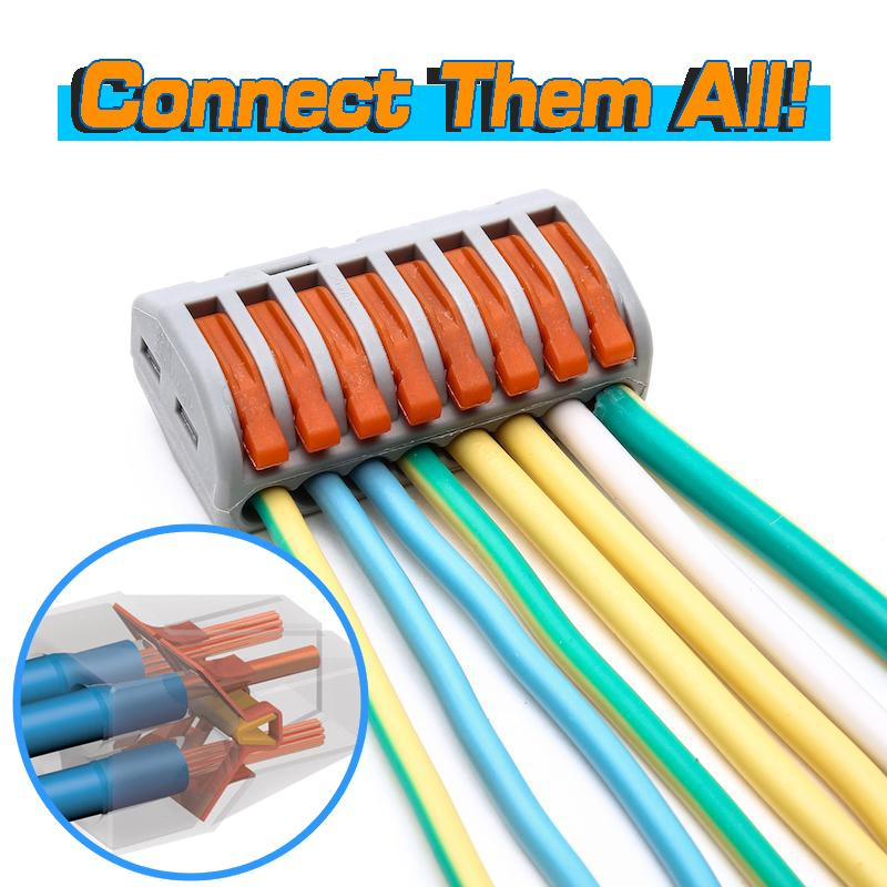 NEC™ - Heat Resistant Compact Wire Connector - 8 Poles / 30pcs - Awesales