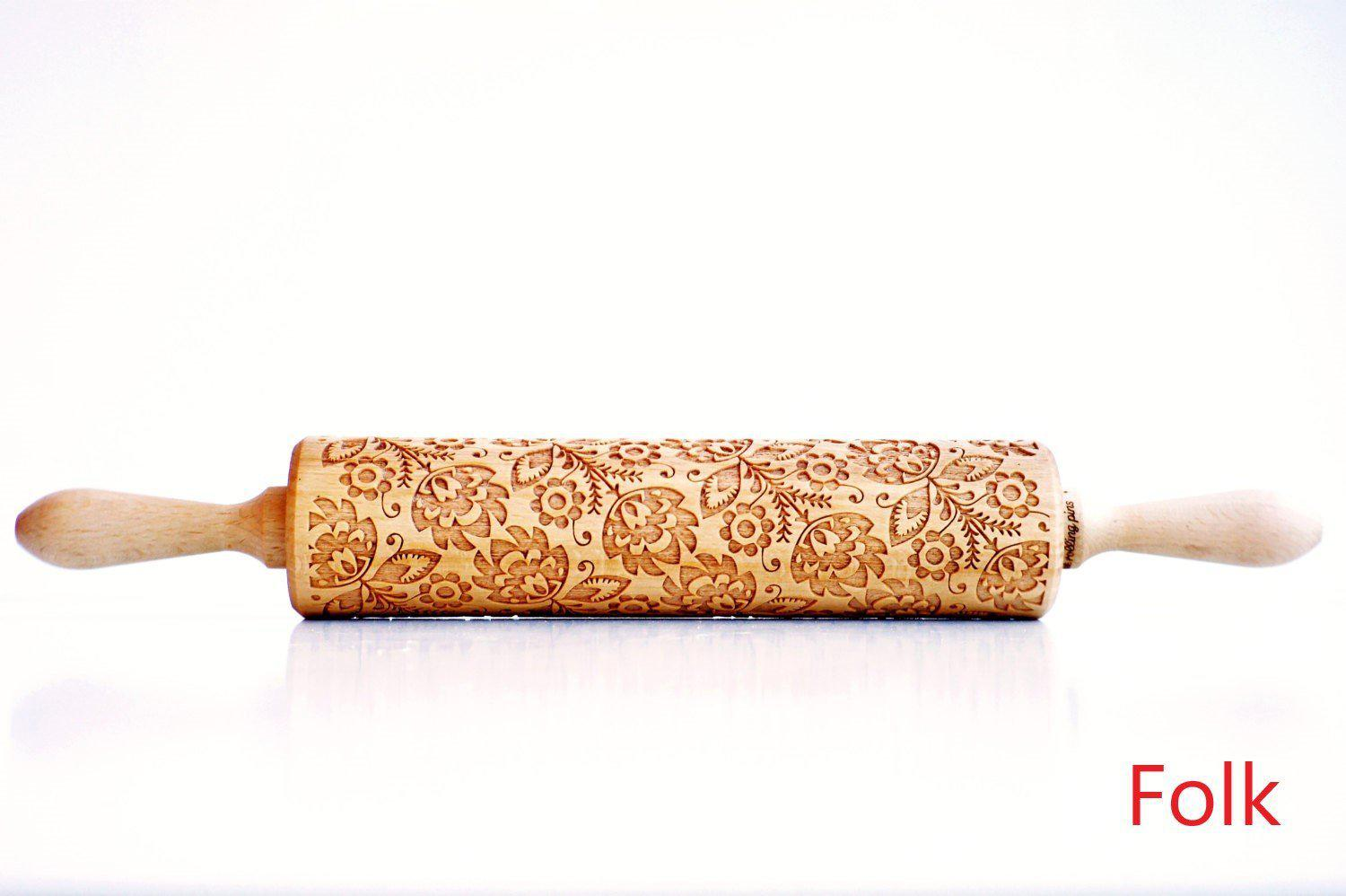 Set of Christmas Embossing Rolling Pins - - Awesales