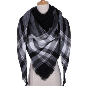 Winter Triangle Scarf For Women 2019 - Black - Awesales
