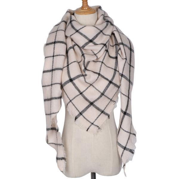 Winter Triangle Scarf For Women 2019 - Blackstripe - Awesales