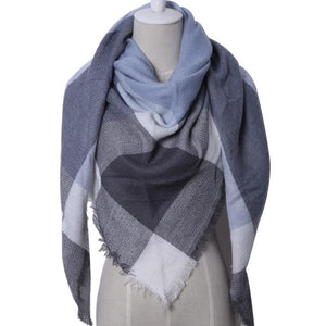 Winter Triangle Scarf For Women 2019 - BlueGrey - Awesales