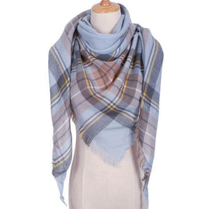 Winter Triangle Scarf For Women 2019 - BlueLight - Awesales