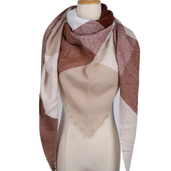 Winter Triangle Scarf For Women 2019 - Brown - Awesales