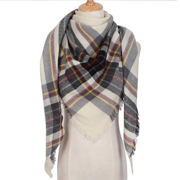 Winter Triangle Scarf For Women 2019 - BrownBlack - Awesales