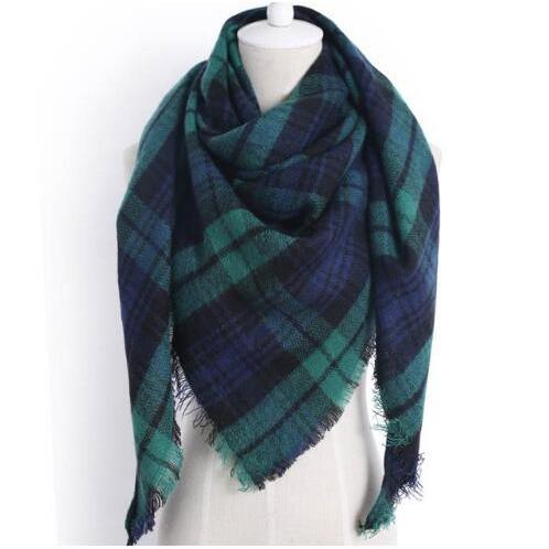 Winter Triangle Scarf For Women 2019 - Green - Awesales