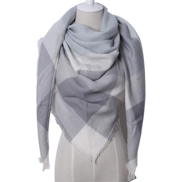 Winter Triangle Scarf For Women 2019 - Grey - Awesales