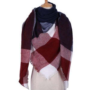 Winter Triangle Scarf For Women 2019 - NavyBlue - Awesales