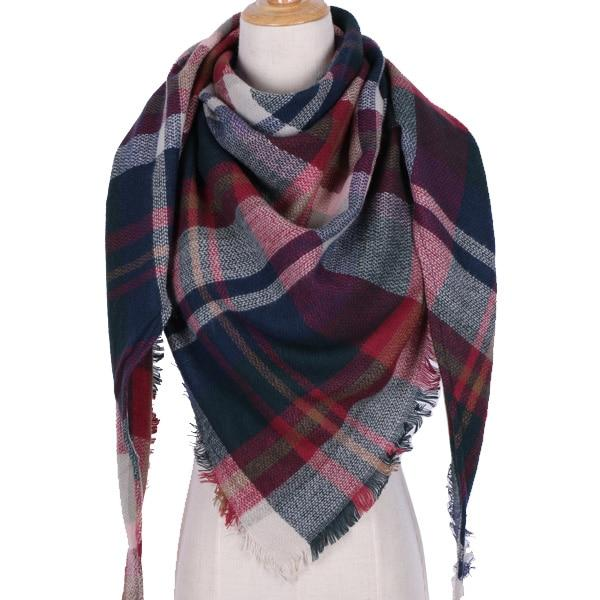 Winter Triangle Scarf For Women 2019 - Rainbow - Awesales