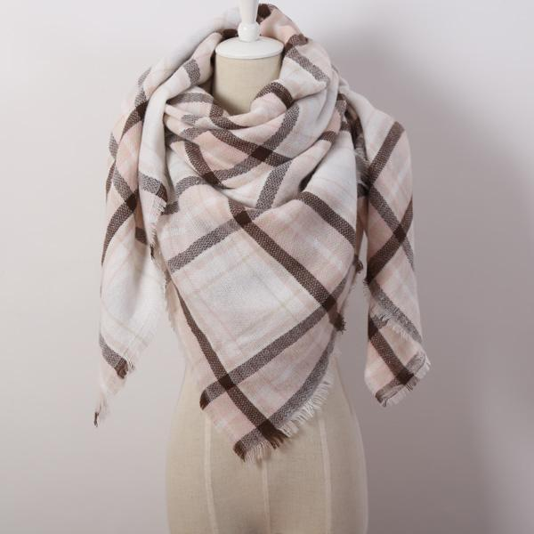 Winter Triangle Scarf For Women 2019 - WhiteBrown - Awesales
