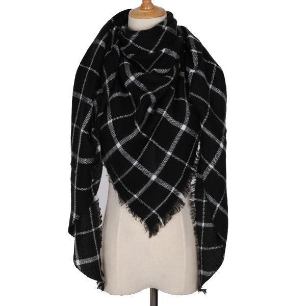 Winter Triangle Scarf For Women 2019 - Whitestripe - Awesales