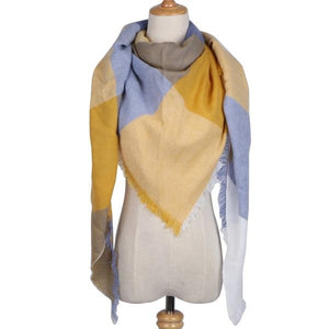 Winter Triangle Scarf For Women 2019 - YellowGrey - Awesales