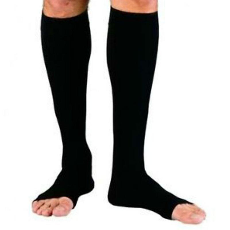 Zipped Open Toe Compression Socks - - Awesales