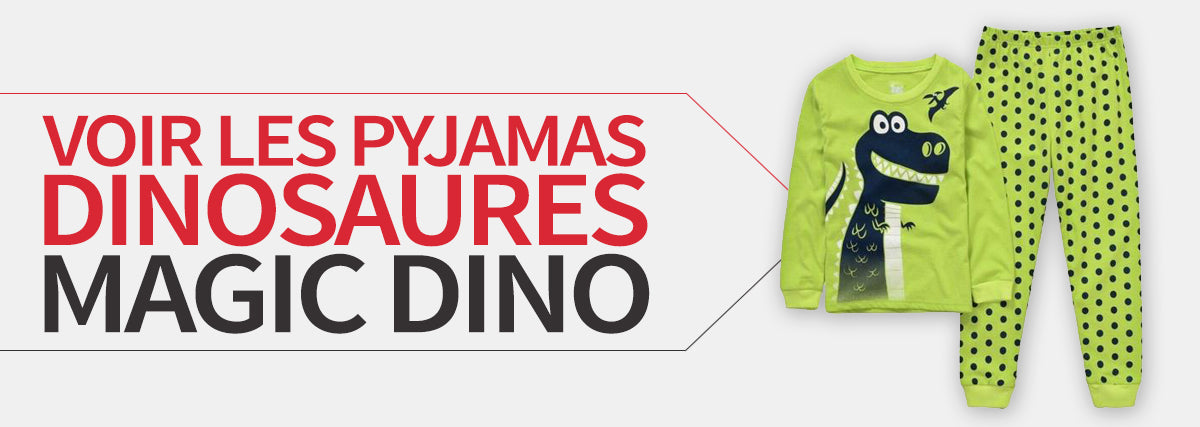 collection pyjama dinosaure magic dino
