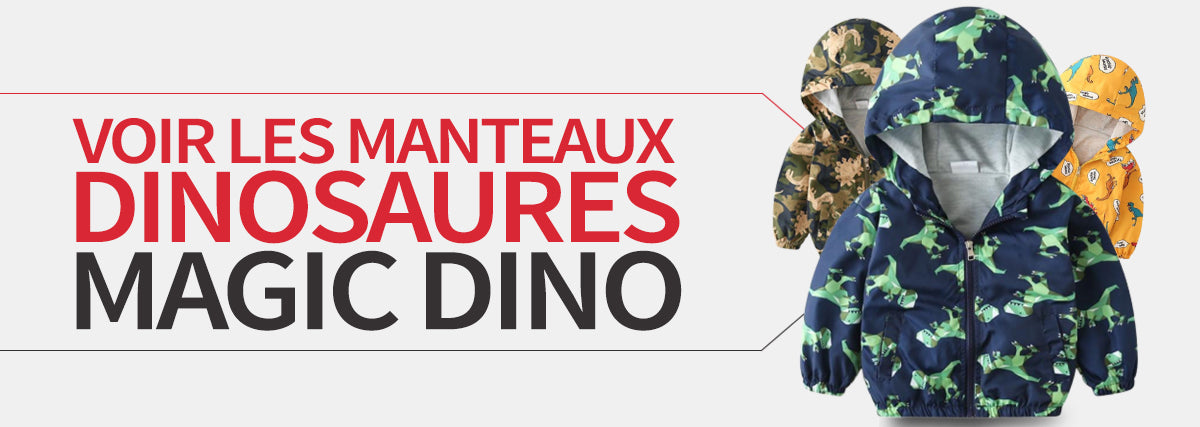 collection manteaux dinosaures