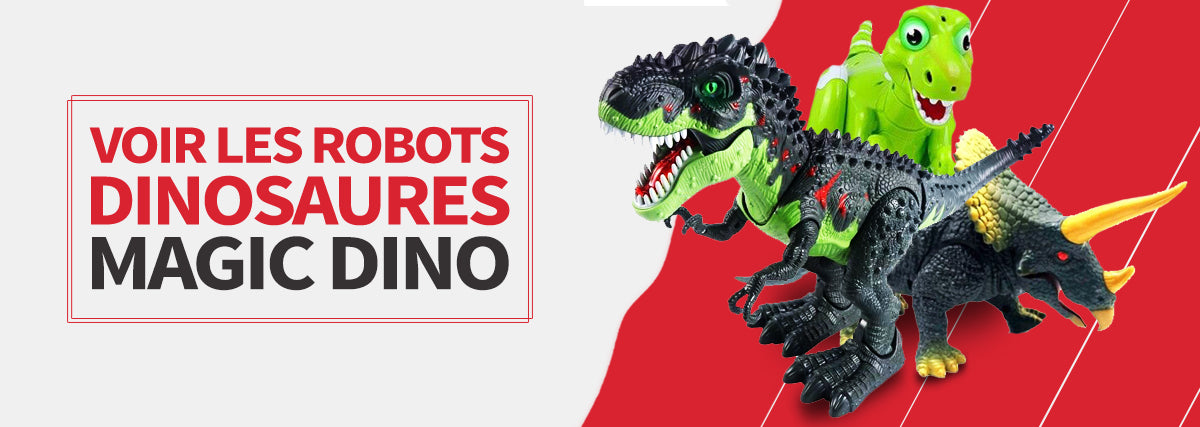 collection jouet robot dinosaure