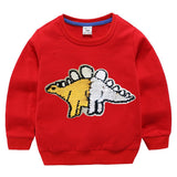 sweat dinosaure stegosaure reversible rouge