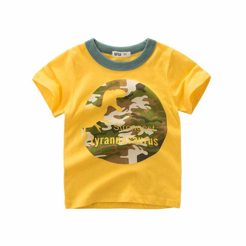 t shirt dinosaure camouflage t rex