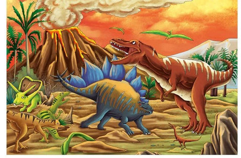 puzzle dinosaure 5 ans volcan