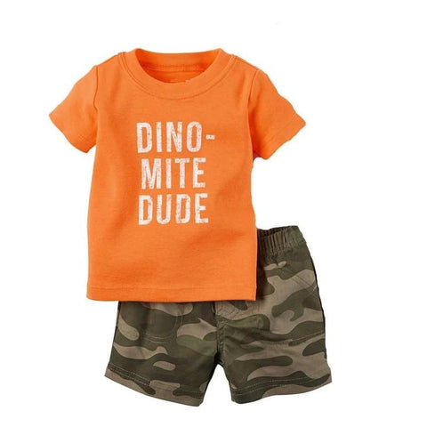 t-shirt dinosaure ensemble dinomite dude