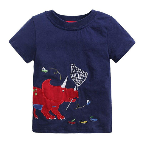 t shirt dinosaure triceratops