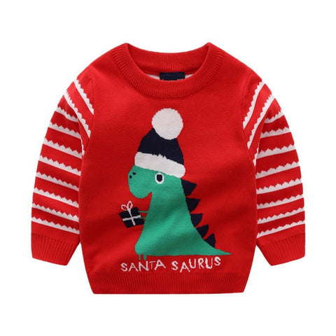 sweat dinosaure santasaurus rouge