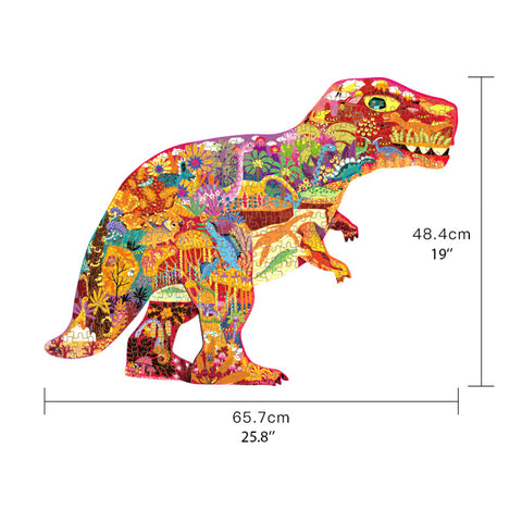 puzzle dinosaure t rex sauvage dimensions
