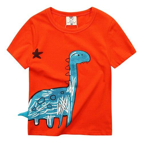 t shirt dinosaure bebe dino orange