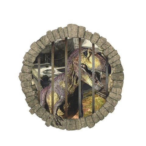 decoration dinosaure stickers mural prison