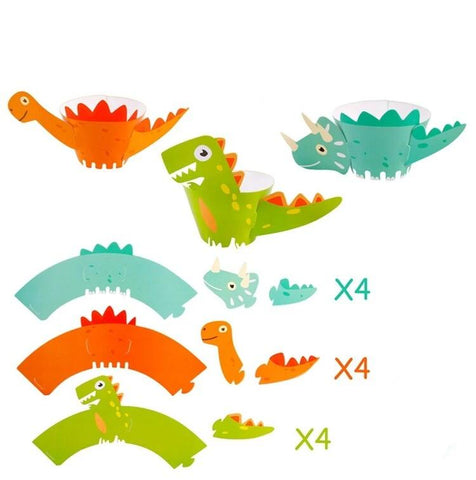 anniversaire dinosaure emballages dinos pour cupcakes