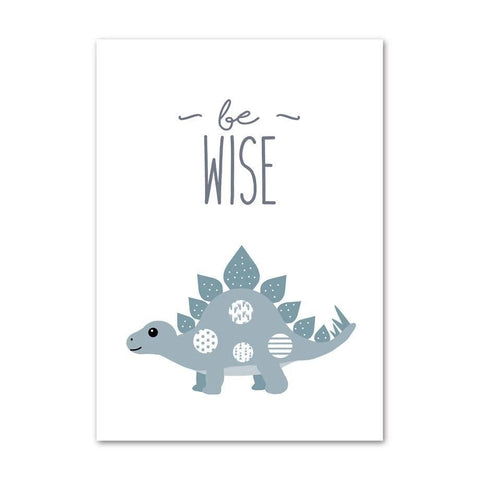 decoration dinosaure tableau enfant stegosaure be wise