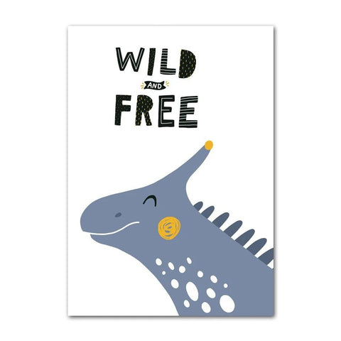 decoration dinosaure tableau enfant wild and free