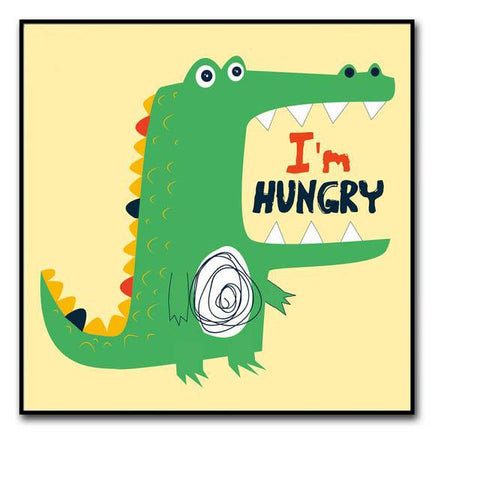 decoration dinosaure tableau enfant i m hungry