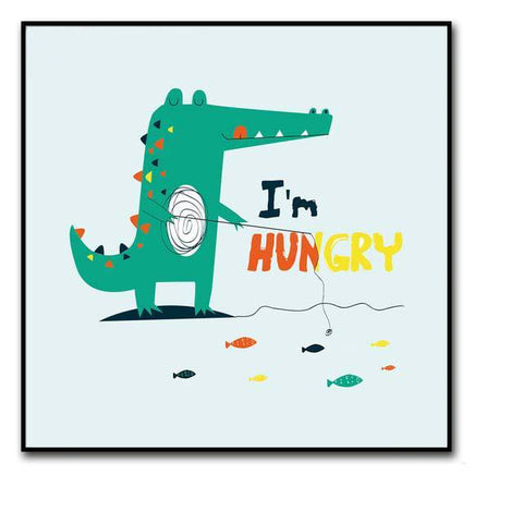 decoration dinosaure tableau enfant hungry