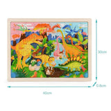puzzle dinosaure 5 ans 100 pieces observation dimensions