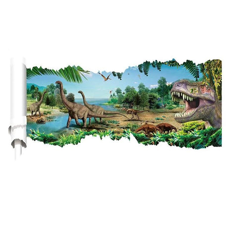 decoration dinosaure stickers mural observation