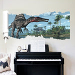 decoration dinosaure stickers mural spinosaure piano