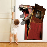 decoration dinosaure stickers mural t rex porte