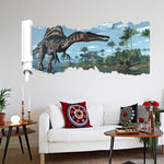 decoration dinosaure stickers mural spinosaure canape