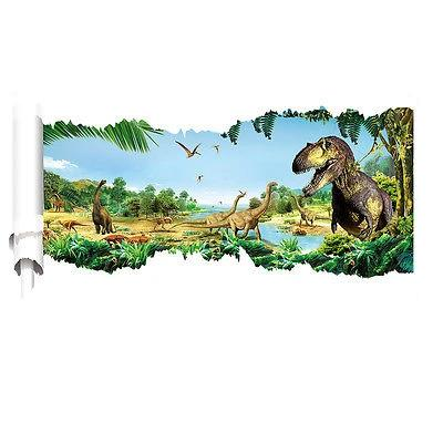 decoration dinosaure stickers mural cretace