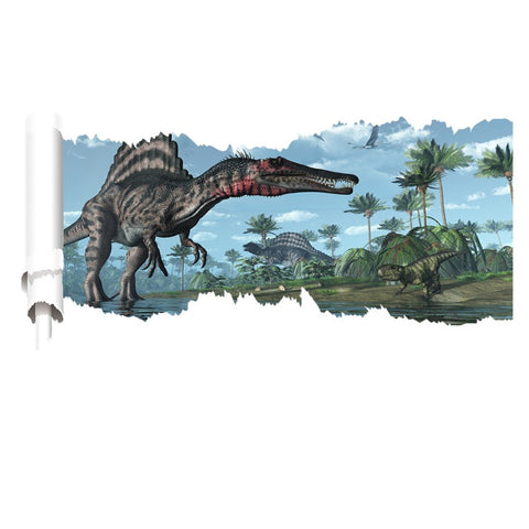 decoration dinosaure stickers mural spinosaure